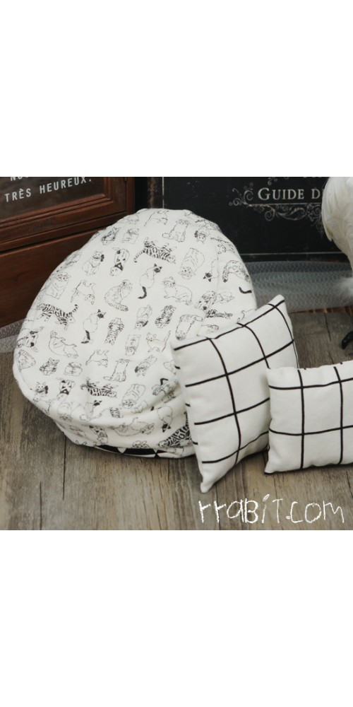 All size ★ Beanbag Sofa - Cat Linen +Cushion