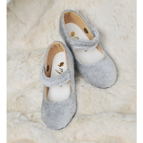 SD10/13 Girl Velvet Wine Glass Heels  [BLS006] Light Grey