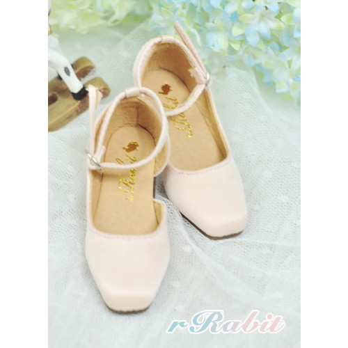 1/4 MSD - BLS007 -  Shell Pink - Square Mary Jane shoes
