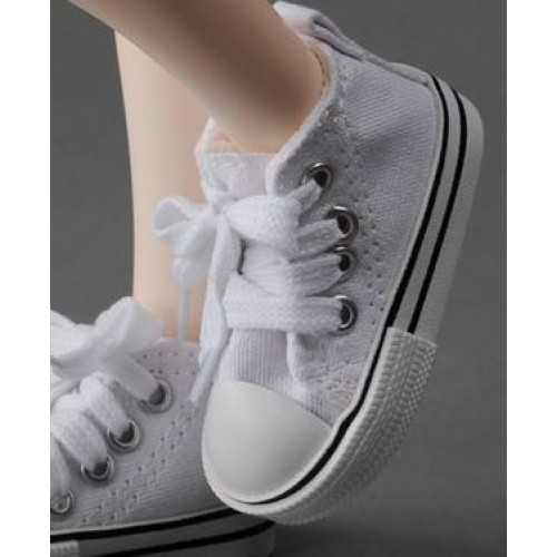 1/3 Gril + 1/4 *Candy  Canvas Shoes CA001 - White