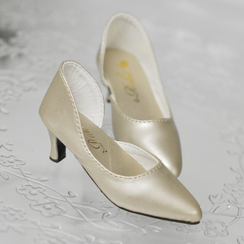 SD10/13 Girl d'Orsay pumps (Normal Feet use) LG006 Metal Champagne