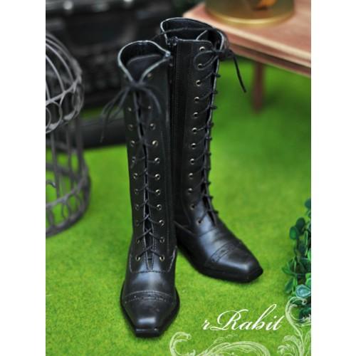 SD13&17 Boy - Cap-toe long boots - [RSH003] Black