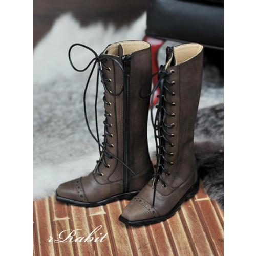 SD13&17 Boy - Cap-toe long boots - [RSH003] Dusty Brown