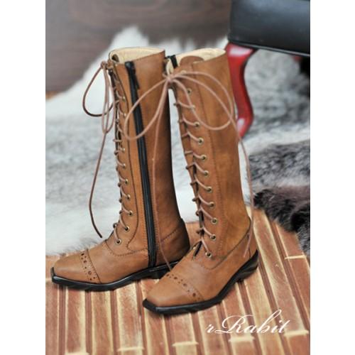 SD13&17 Boy - Cap-toe long boots - [RSH003] Dusty Straw