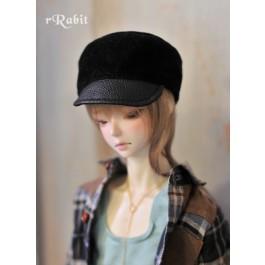1/3 [Velvet Kepi Hat] AS005 001 (Black)