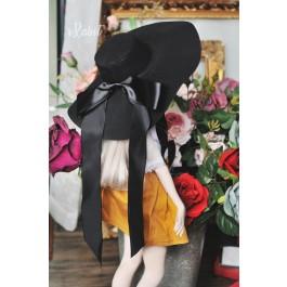 1/4[Witchcraft Academic]Floppy hat - AS007 001(Black)