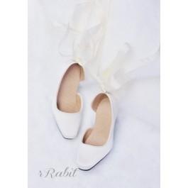 1/3Girl/SD10/13 Flatfeet /Ballet Mary Jane shoes[BLS007] Silk White