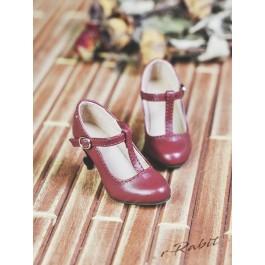 1/3Girls Highheels/DD T-straps high heels [BLS009] - Cherry