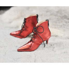SD17/IP's Girl + Pointed Toe Ankle Boots [Coven Three] - Flash Red