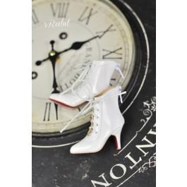 1/4 HighHeels/MDD/AP/Minifee/Unoa+ Pointed Toe Ankle Boots [Coven Three] - New White