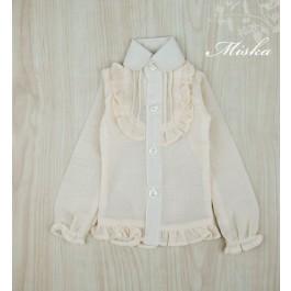 MISKA*1/4 Chiffon Lotus Shirt   - MSK010 004