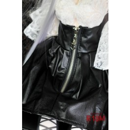[R18M] 1/3 Zipper w/ skirt - RM004 001 (regular black leather)