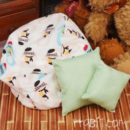 All size ★ Beanbag Sofa - Pink rrabit +Cushion