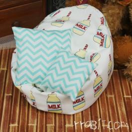 All size ★ Beanbag Sofa - Yellow Milk +Cushion