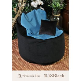 [Reco.]Sofa - [JellyBean]- A.7PeacockBlue B.18Black