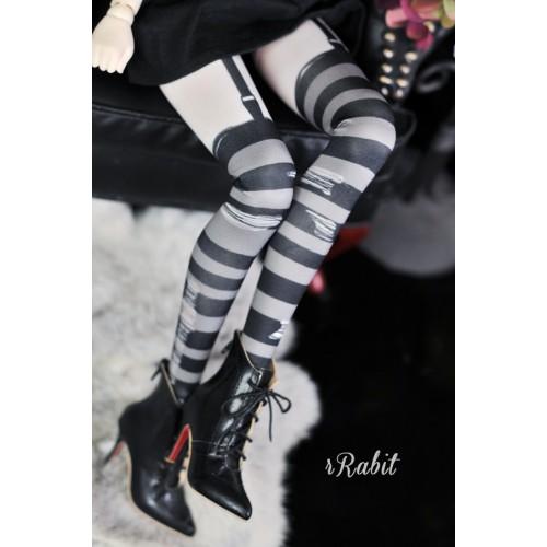 1/3 Girl/DD -[Coven Socks] - Rotten Stripe (Grey) - CVS190901