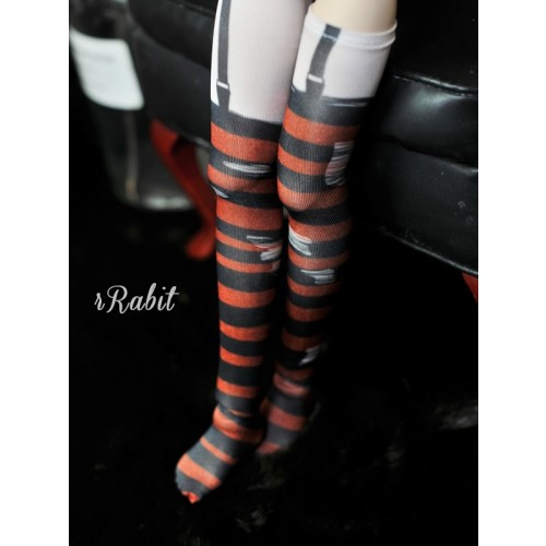 MDD[Coven Socks] - Rotten Stripe (Red) - CVS190902