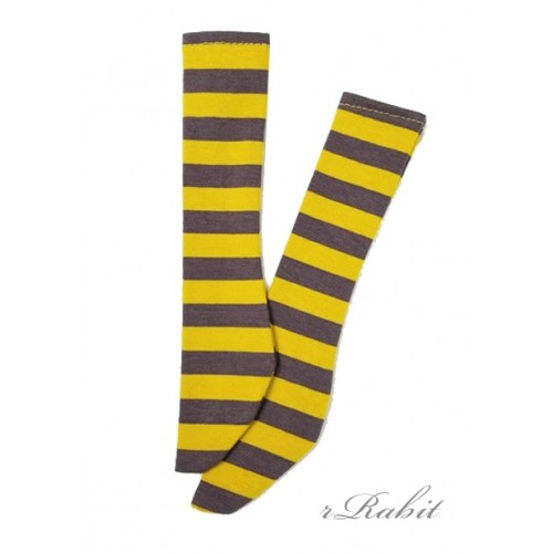 1/3 Boy short socks - AS003 010 Yellow stripe