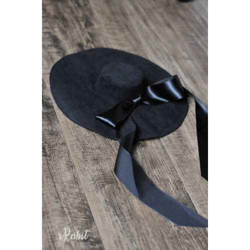1/3[Witchcraft Academic]Floppy hat - AS007 003(Black Velvet)
