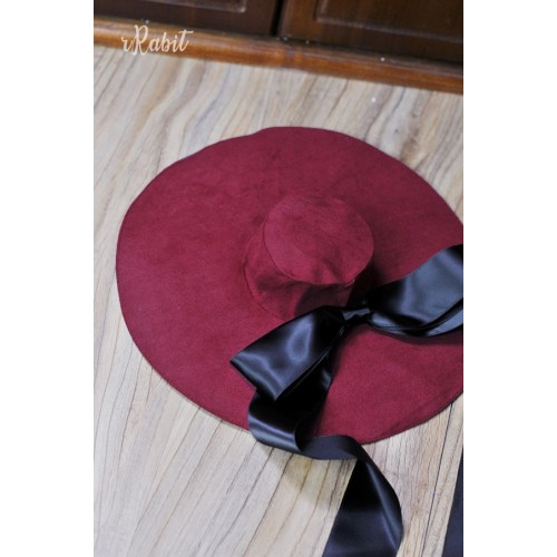 1/4[Witchcraft Academic]Floppy hat - AS007 004(Red Velvet)
