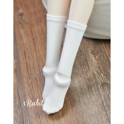 1/3 Girls - Short socks - AS009 001 (White)
