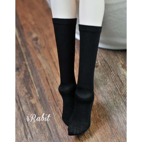 1/3 Girls - Short socks - AS009 002 (Black)