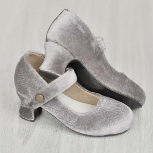 SD10/13 Girl Velvet Wine Glass Heels  [BLS006]Grey
