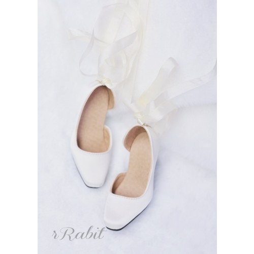 1/3Girl/SD10/13 Flatfeet /Ballet Mary Jane shoes[BLS007] Silk White