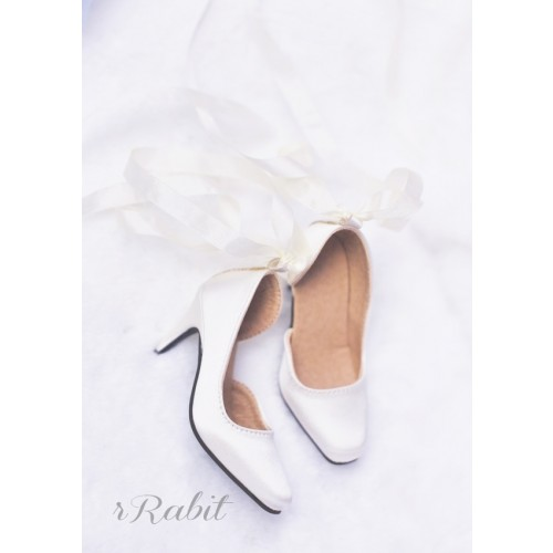 1/3Boy Highheel /IP Women -Ballet Mary Jane shoes[BLS007] Silk White