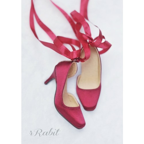 1/3Boy Highheel /IP Women -Ballet Mary Jane shoes[BLS007] Silk Wine