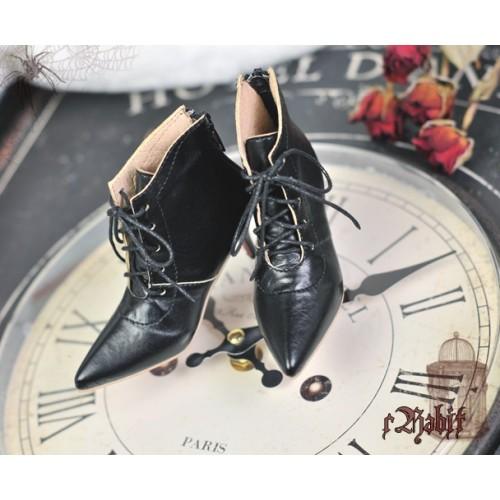 1/4 HighHeels/MDD/AP/Minifee/Unoa+ Pointed Toe Ankle Boots [Coven Three] - Dark Night