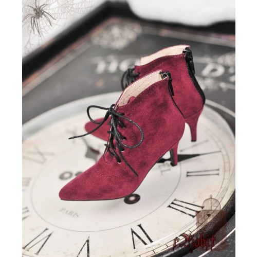 1/3 Girls Highheels /DD+ Pointed Toe Ankle Boots [Coven Three] - Berry Velvet