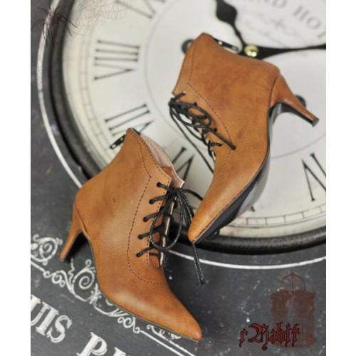 1/4 HighHeels/MDD/AP/Minifee/Unoa+ Pointed Toe Ankle Boots [Coven Three] - OldBrown