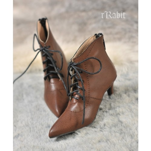 SD17/IP's Girl + Pointed Toe Ankle Boots [Coven Three] - Carob