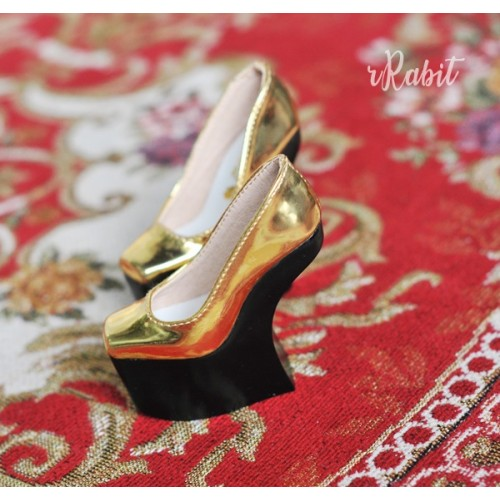 1/3 Girls Highheels /DD [Coven Four] Curve Platform High Heels - Space Gold (Basic Ver.)