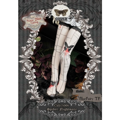 1/4 Socks - ♣COVEN♣ CVS171001 Spider nightmare ☆ (New Slim cutting)