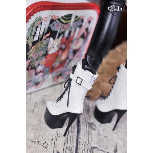 1/3 Boy/IP House Girls - Stilettos High Ankle Boots [DA003] White