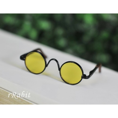 1/3 Sun Glasses - Circle Shape - Yellow