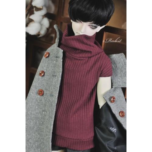 1/3 [Turtleneck sweater] HL042 1902 (Wine)
