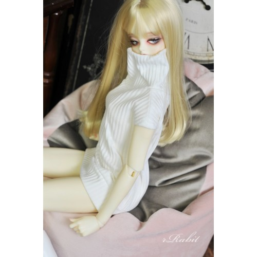 1/3 [Turtleneck sweater] HL042 1904 (White)