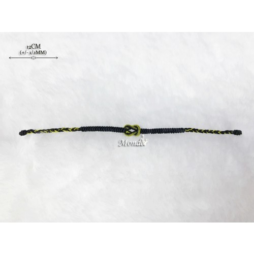 [Monde] 1/3 Lover Bracelets (Lock) Black-Mix-Gold