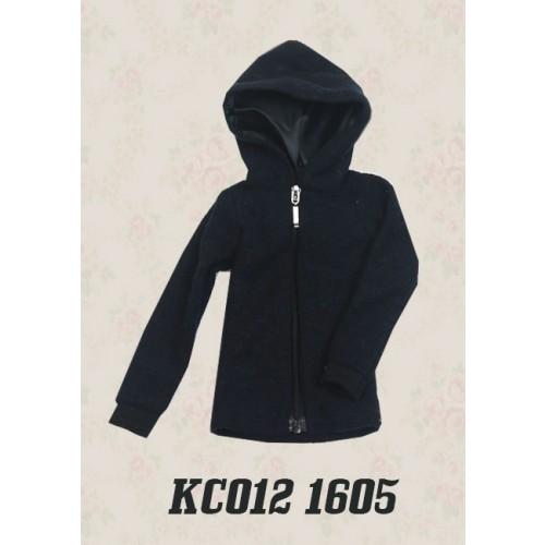 1/4 Plush hoodie coat - KC012 1605 (Boys & Girls)