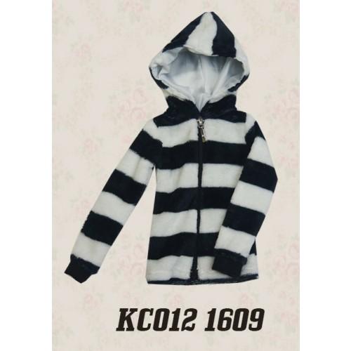 1/4 Plush hoodie coat - KC012 1609 (Boys & Girls)