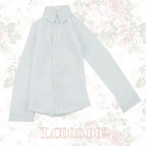 70cm up+ * Chiffon Plain L/S Shirt - LC008 002 White