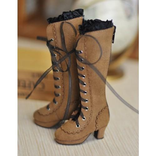 1/4 MSD - LG002 Carving long boot - Cinnamon