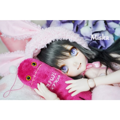 1/4 [Miska] Fuzzy Hat - MSK018 003 - Pink rabbit