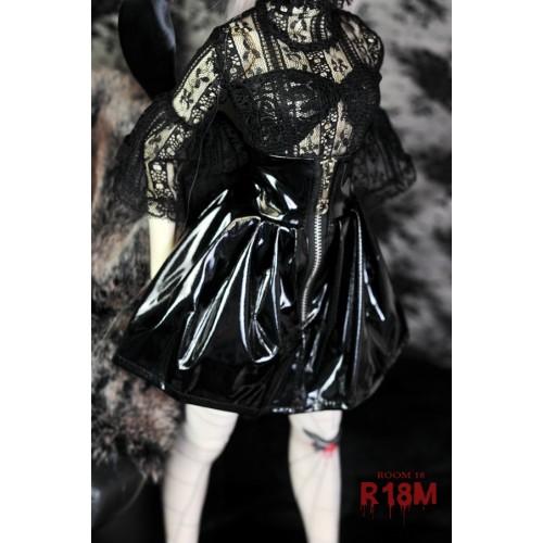 [R18M] 1/3 Zipper w/ skirt - RM004 002 (black patent leather)