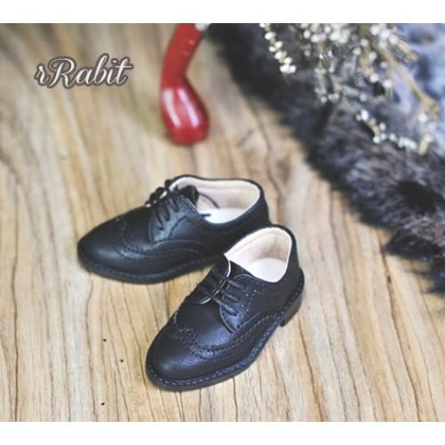 1/4 MSD/MDD Boy Classic Oxford Shoes - RSH005 Black
