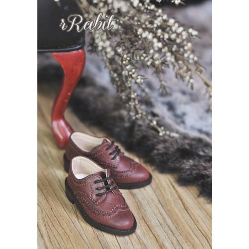1/4 MSD/MDD Boy Classic Oxford Shoes - RSH005 Red