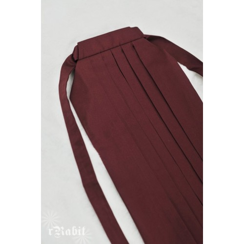1/3 Hakama 行燈袴 (Japanese Bottom Dress) TS001 1704 (Wine)